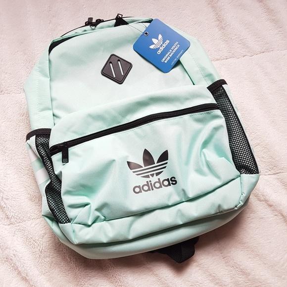 419731b07f61 Adidas Originals Base Backpack Black Mint Unixex